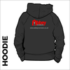 hoodie with embroidered logo on centre back