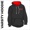 Varsity hoodie with embroidered logo on chest