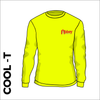 Long Sleeve flo yellow athletics Cool T-Shirt front image with printed club badge on chest