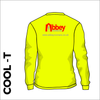 Long Sleeve flo yellow athletics Cool T-Shirt front image with printed club badge on back