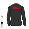 Long Sleeve black athletics Cool T-Shirt front image with printed club badge on back