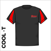 contrast cool T with printed club badge on left chest