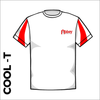 contrast cool T in White with printed club badge on left chest and centre back