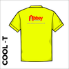 flo yellow Cool-T, moisture wicking back image showing printed club logo