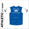 Short sleeve Athletic T-shirt club design in full sublimation print. Back picture showing custom design