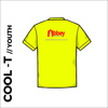 flo yellow Youth Cool-T, moisture wicking, back image showing club print