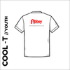White Youth Cool-T, moisture wicking, back image showing club print