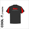 Youth contrast cool T with printed club badge on back