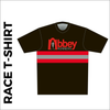 Short sleeve Black Athletic T-shirt club design in full sublimation print. Front picture showing custom design