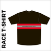 Short sleeve Black Athletic T-shirt club design in full sublimation print. Back picture showing custom design