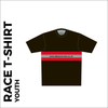 Short sleeve Youth Black Athletic T-shirt club design in full sublimation print. back picture showing custom design