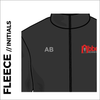 Abbey Runners fleece top front with embroidered initials