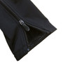Detail of Zip up warm up pants ankle gripper and full length zip