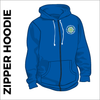 zipped hoodie with embroidered logo on chest