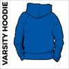 Varsity hoodie back