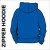 Royal zipped hoodie back