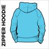 Sky blue zipped hoodie back
