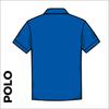 Polo Shirt. Royal Blue colour ring spun cotton back