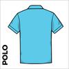 Polo Shirt. Sky Blue colour ring spun cotton back