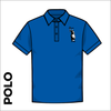 Polo Shirt. Royal Blue colour ring spun cotton fabric in a double pique knit for breathability and strength. embroidered club badge on left chest