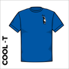 royal Cool-T, moisture wicking with embroidered left chest badge