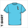 sky blue T-Shirt, Cotton with embroidered chest logo