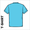 sky blue T-Shirt, Cotton with embroidered chest logo, back image