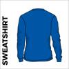 Royal Blue sweater back