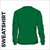 Bottle green sweater back