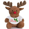Reindeer Soft Toy With Personalised T-shirt