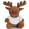Reindeer soft toy gift with customisable T-shirt
