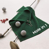 personalised golf towel showing embroidered name