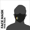 Dorset LDWA custom printed face mask five pack