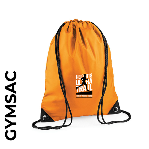 HUT Orange gymsac with embroidered club logo