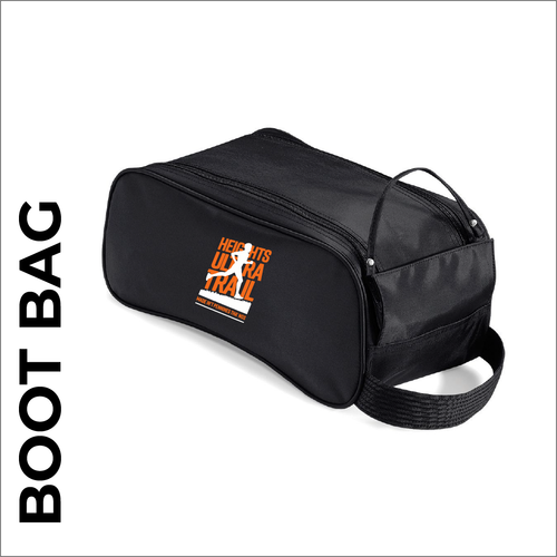 HUT black boot bag with embroidered club logo.