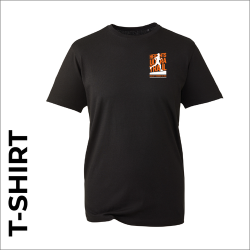 HUT T-shirt with embroidered logo on chest - black