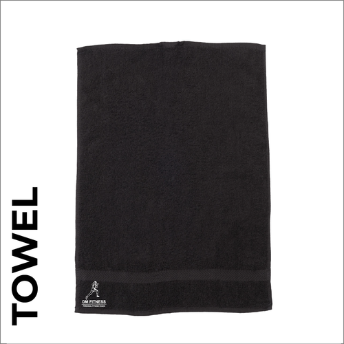 DM-Fitness Sport towel with embroidered club crest on the front.