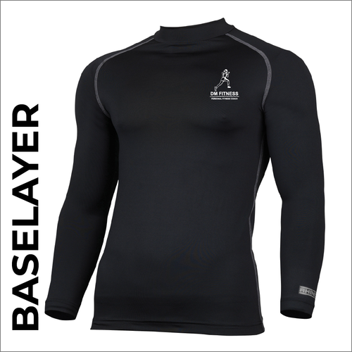 DM-Fitness black Long Sleeve base layer