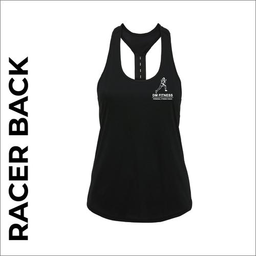 DM-Fitness black racer back vest front
