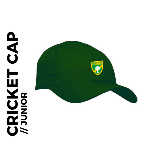 Bradfield CC junior Cap, embroidered club badge on front