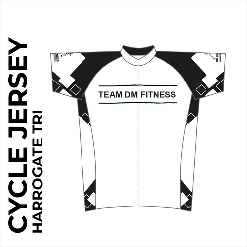 Team DM Fitness Sublimation cycle jersey front image