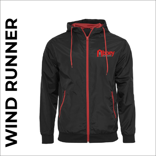 Abbey Runners windrunner with front chest print