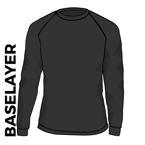 4RT black base layer, front view