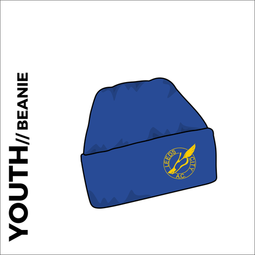 Youth turn up beanie with embroidered club crest on the front.
