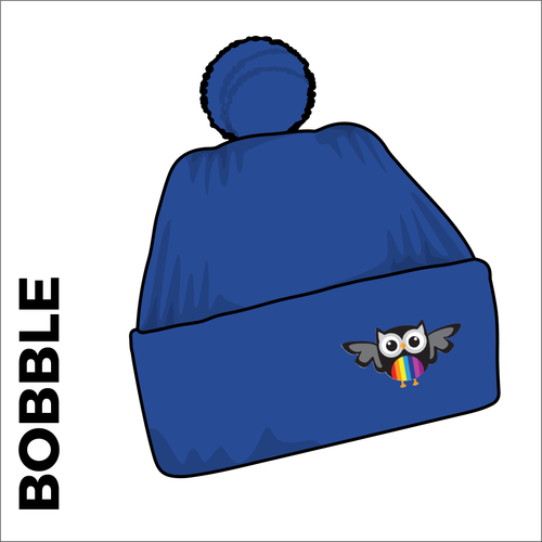 bobble hat with embroidered club crest on the front.