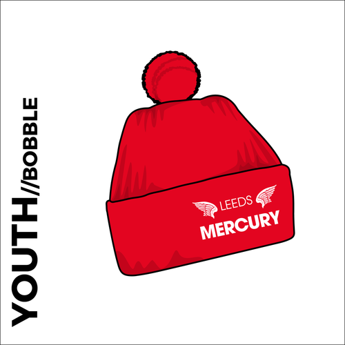 youth Bobble Hat with embroidered club crest on the front.