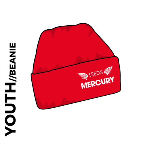 Youth Beanie Hat with embroidered club crest on the front.