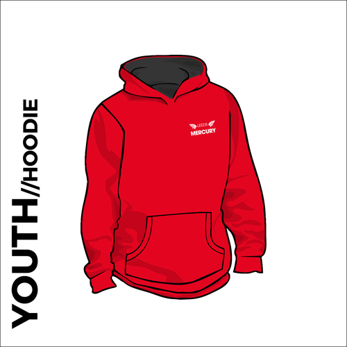 Youth Team hooded top front with embroidered badge on left chest