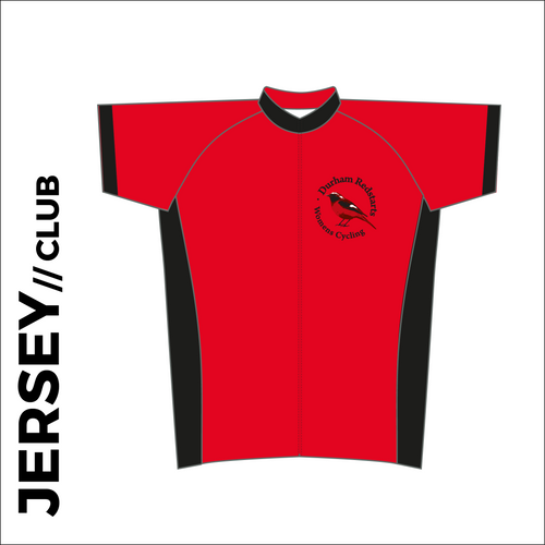 Ladies Summer club bundle kit. Detail image of the club cycle jersey included in the club kit bundle deal.