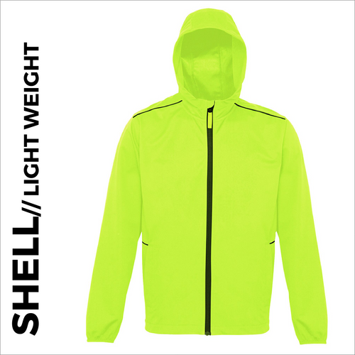 Ultra light softshell athletics jacket, front view